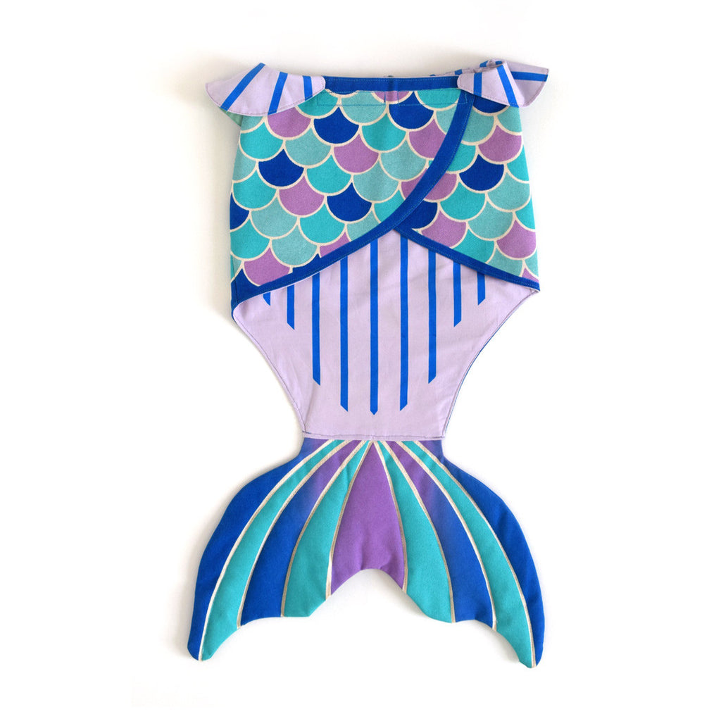 Mermaid tail costume, in purple blue mint teal,  for dress up, playwear by lovelane designs