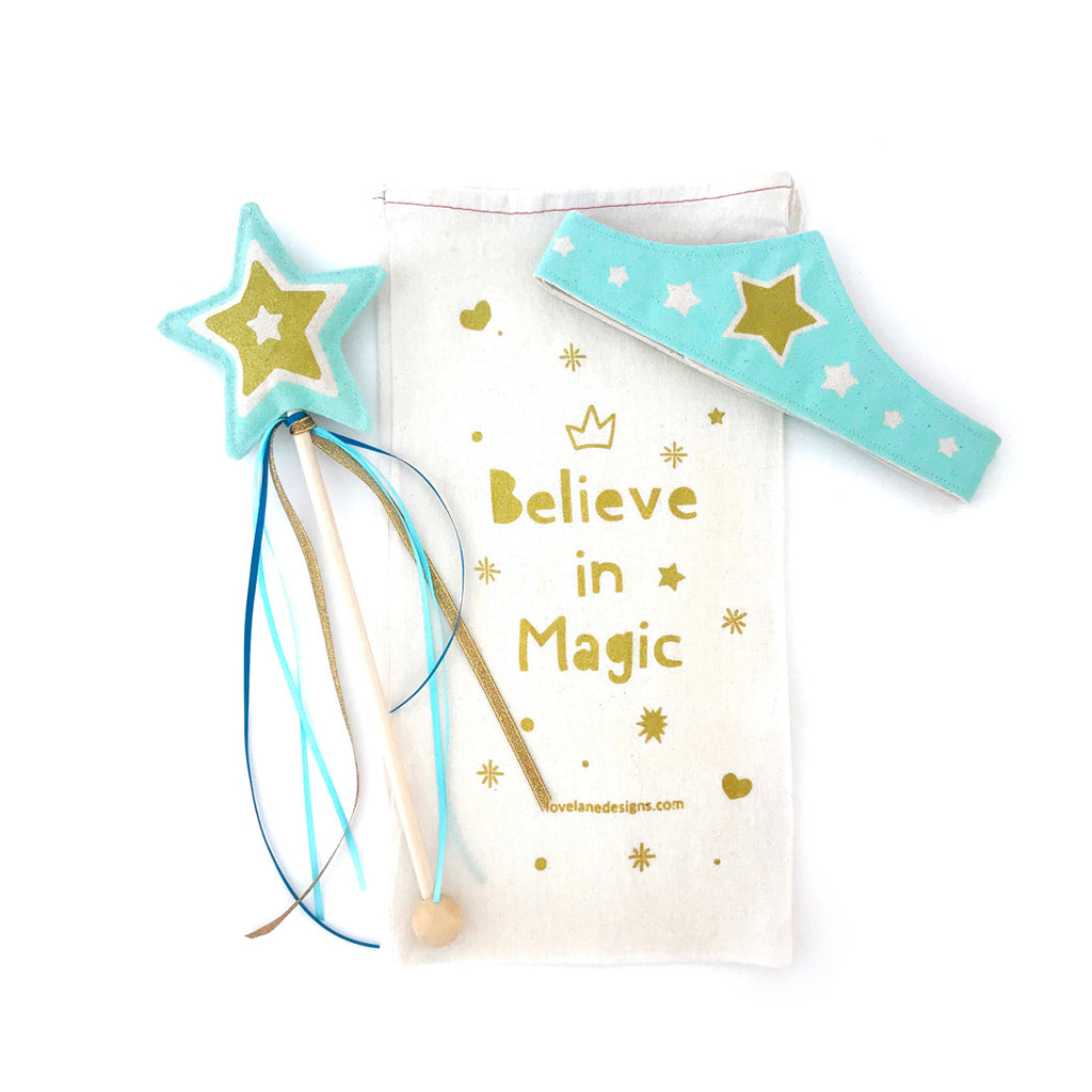 Mint Star Wand + Tiara Gift Set