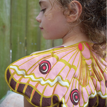 Mint butterfly wings fairy costume, quilted, handmade, for dress up, playwear by lovelane designs