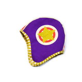 Purple moto hat, helmet costume, for dress up, playwear by lovelane designs