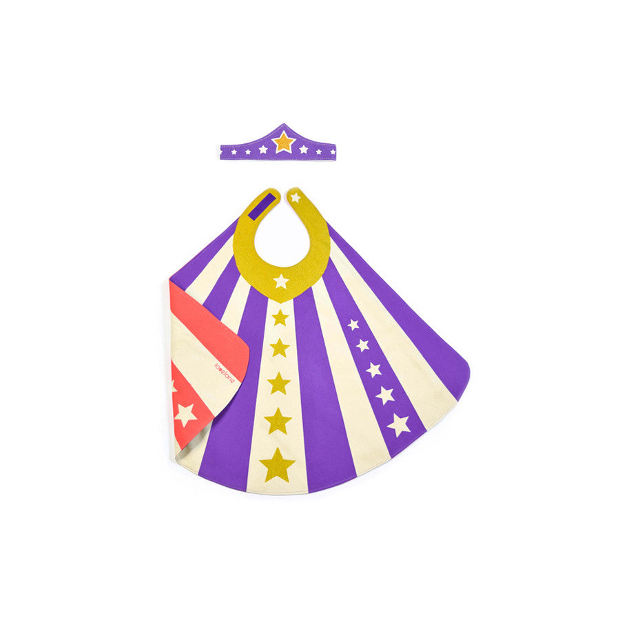 purple super girl costume cape tiara lovelane designs