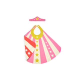 pink child superhero cape tiara lovelane designs