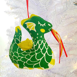 Green Dragon Holiday Ornament