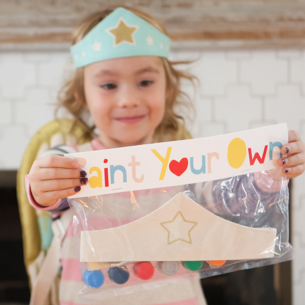 Paint your own Tiara costume kit, with gold star and adjustable velcro, with paint and brush, for dress up, playwear by lovelane designs