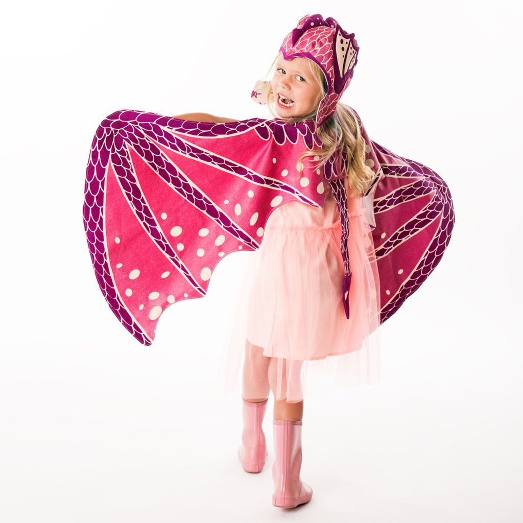 Pink Dragon Wing & Hat Set