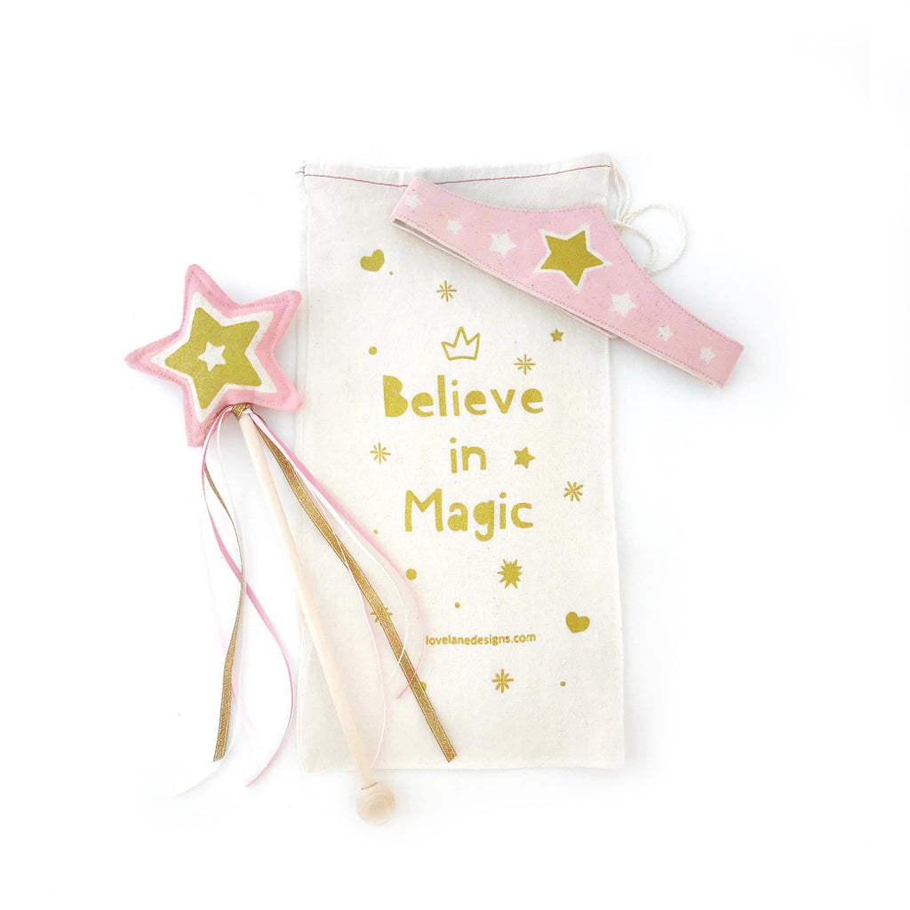 Pink Star Wand + Tiara Gift Set