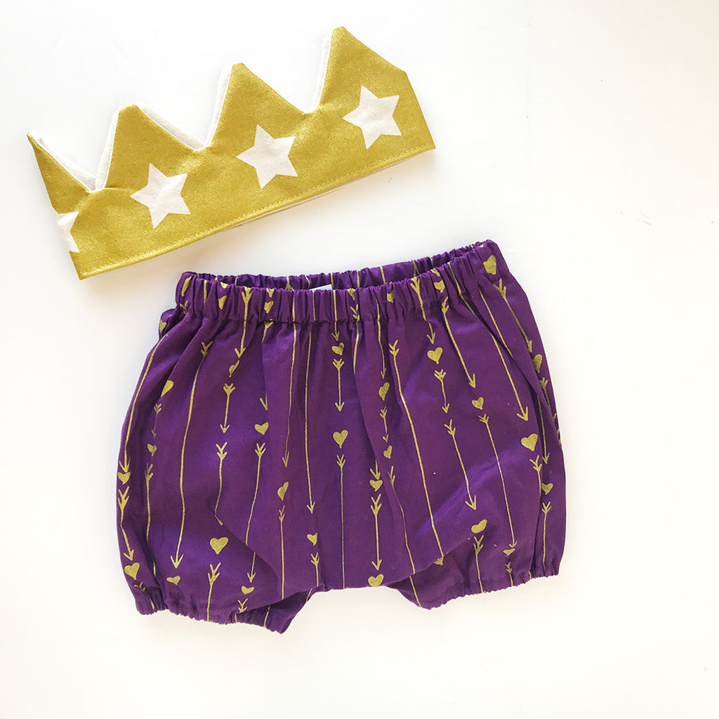 Gold Crown + Purple Bloomer Studio Sample
