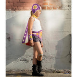 Purple Hero Cape Reversible