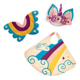 Rainbow Unicorn Cape, Wings & Headband Set