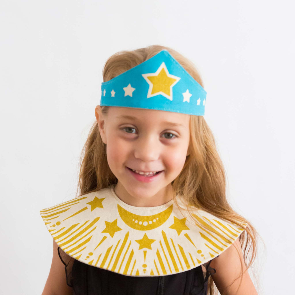 Blue Super Gal, Super Tiara and Cape Set