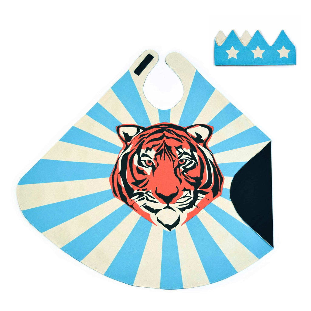 superhero cape tiger motif child crown lovelane designs