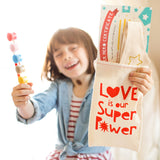 Paint Your Own Tiara, Love is Our Super Power Valentine