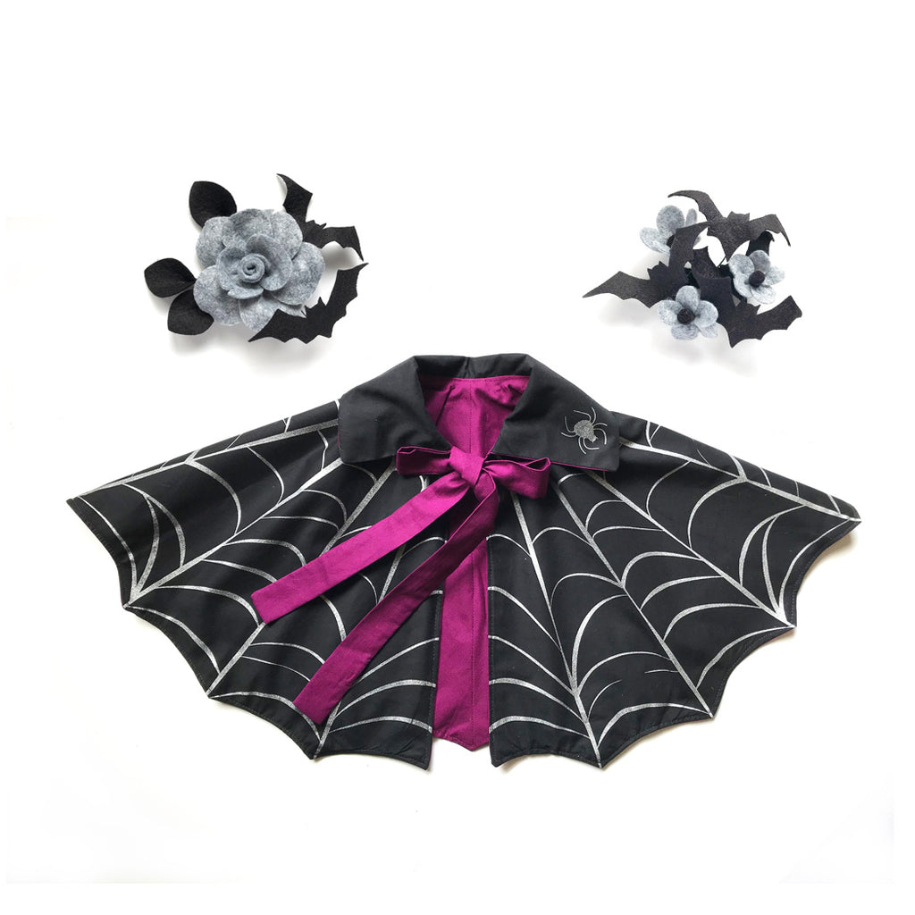 Halloween Vampire Capelet & Hair Clip: Limited Halloween Collaboration with Crickets Blossom
