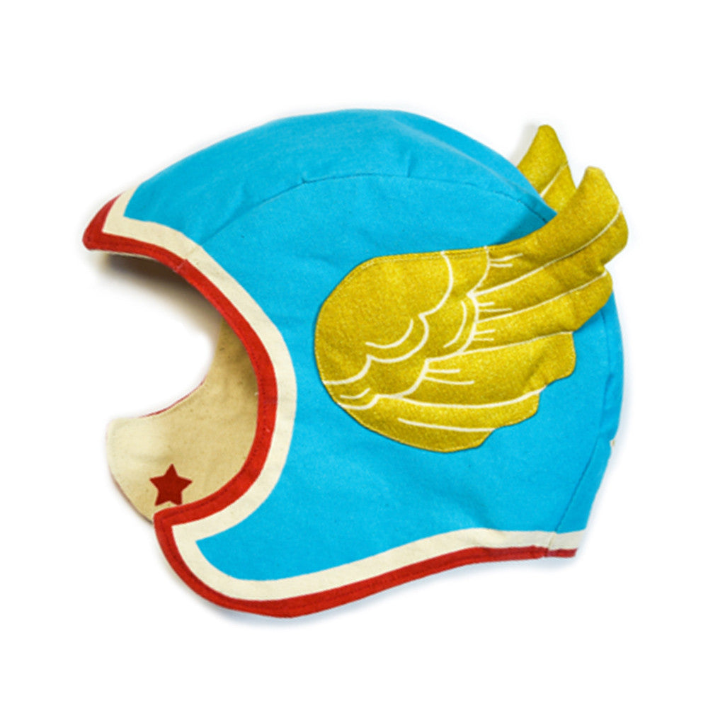 Blue Superhero Hat Gold Wings Child Costume Lovelane Designs