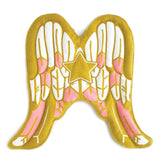 Pink and gold cupid wings angel costume, with feathers and star, for dress up, playwear by lovelane design