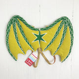 Studio Sample: Green Dragon WIngs + Gold Elastic Size 3/5 Ready to Ship
