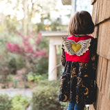 Studio Sample: OOAK Red Cherub Wing Vest:  Size 6/7