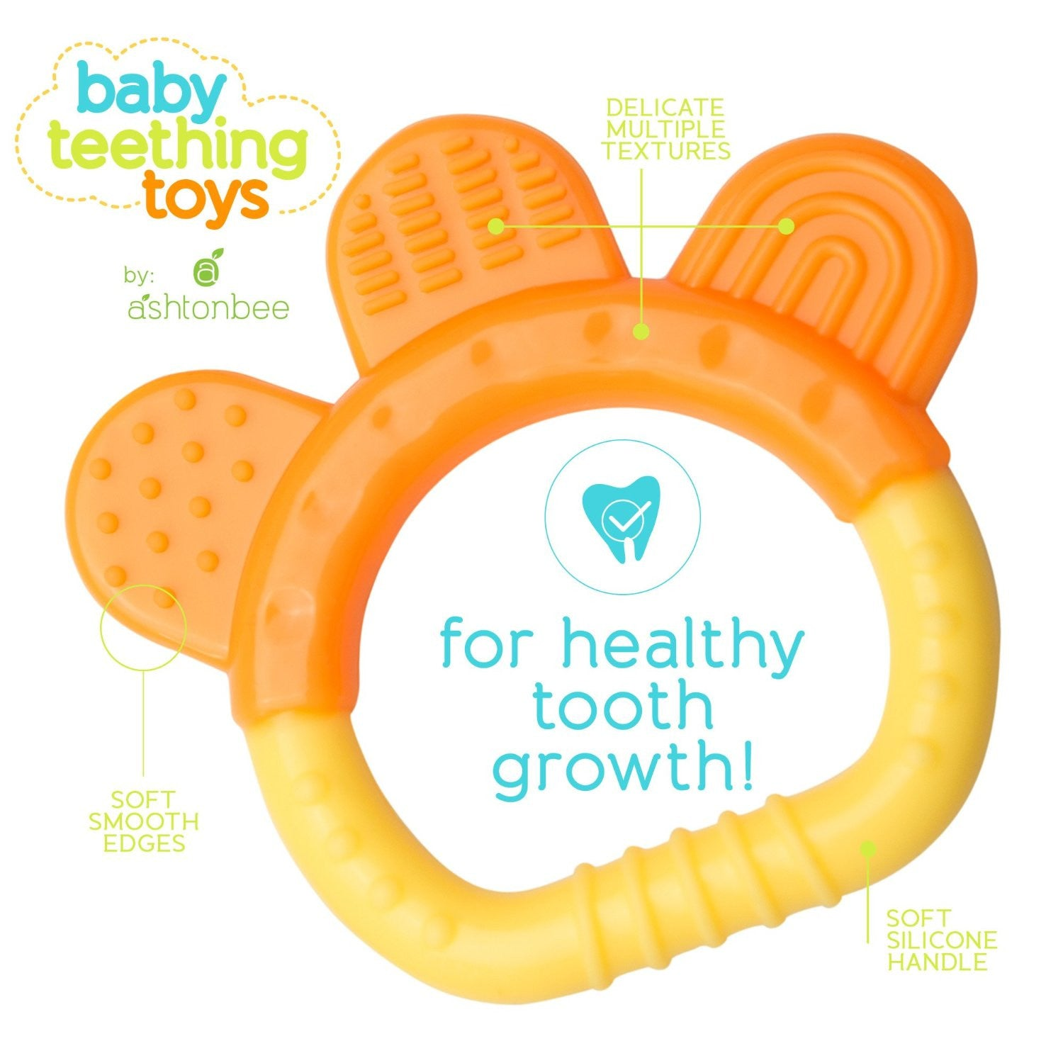 Ashtonbee Baby Teething Relief Toy 5 Pack – Ashtonbee Loved by