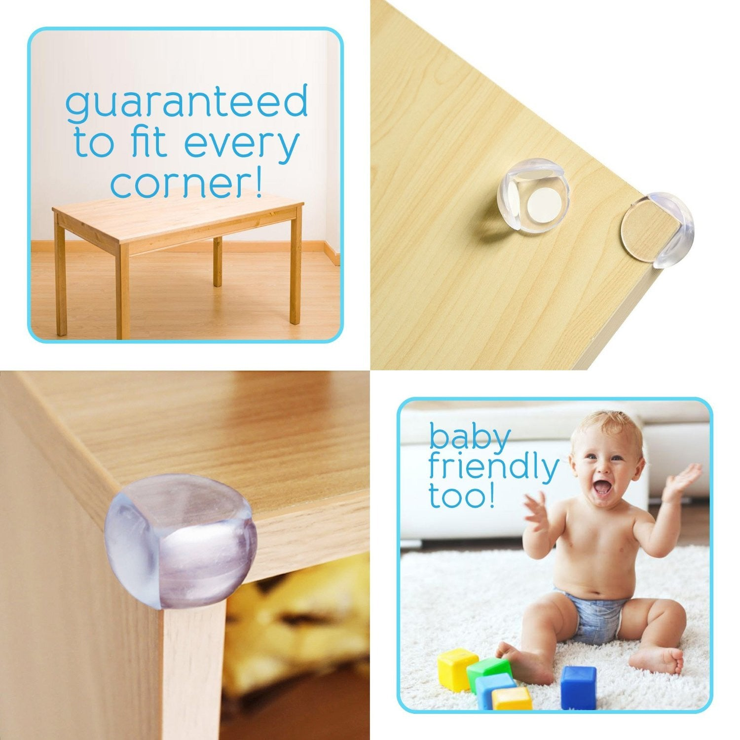 Baby Safety Corner Guards And Edge Bumper With Cabinet Lock (12 Pack)