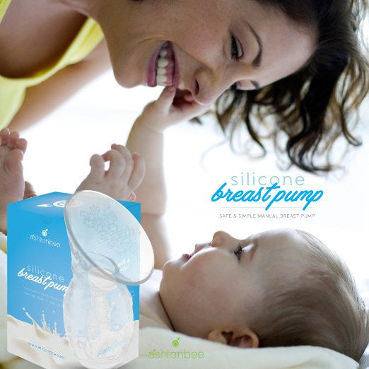 Silicone Breast Pump for Breastfeeding with Lid