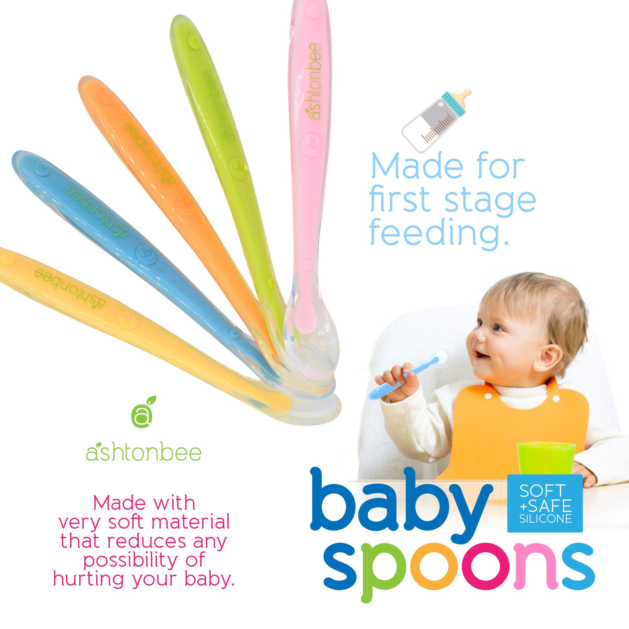 Baby Spoons by Ashtonbee (5-Pieces)