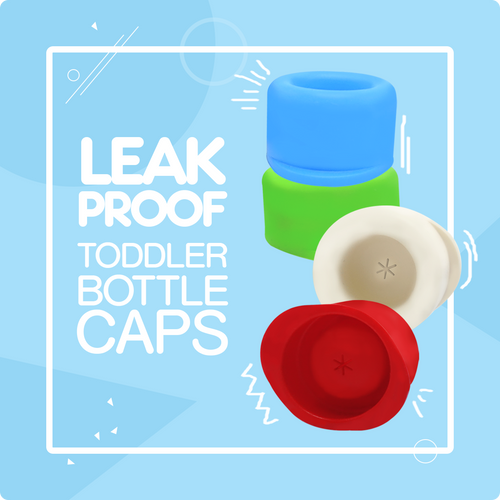Travel Caps for Narrow Neck Bottles - Baby and Toddler Silicone Bottle Lids
