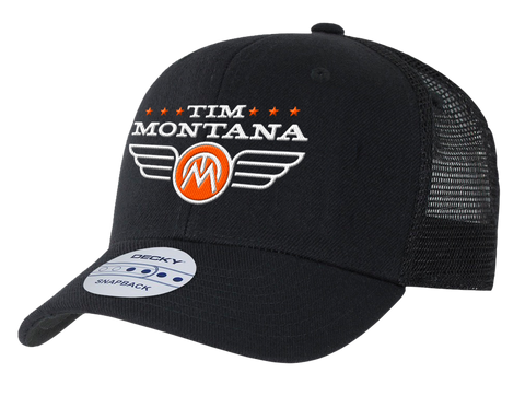 Tim Montana Logo Hat - Black