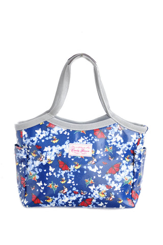 Candy Flowers Shoulder Bag Caitlyn - Butterfly Navy - tas model Shoulder baru - www.baglovers.id - 1