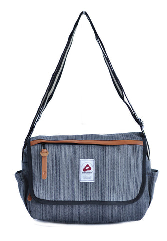 Amooba Sling Bag Boldy - Grey - tas model Slingbag baru - www.baglovers.id - 1