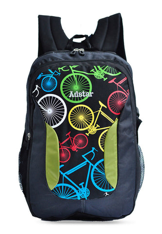 Adstar Backpack Bikes - Black - tas model Backpack baru - www.baglovers.id - 1
