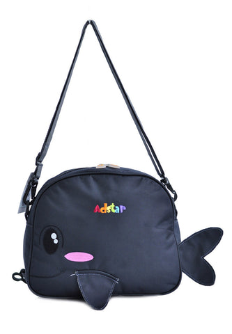 Adstar Backpack Sling Bag Whale Fish - Grey - tas model Slingbag baru - www.baglovers.id - 1