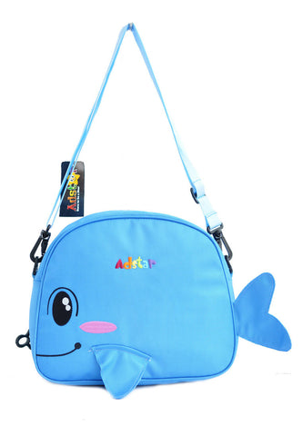 Adstar Backpack Sling Bag Whale Fish - Blue - tas model Slingbag baru - www.baglovers.id - 1
