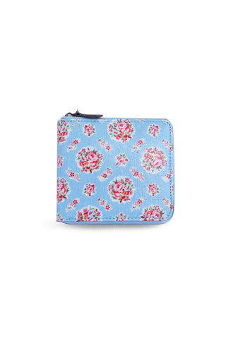 Candy Flowers Wallet Hallie ? Bucket Flowers Blue - tas model Wallet baru - www.baglovers.id - 1