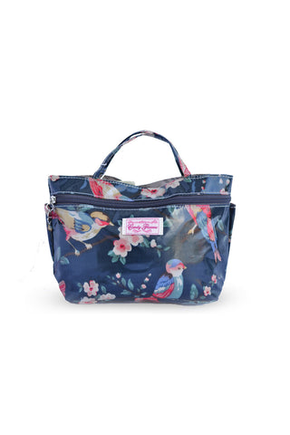 Candy Flowers Wallet Birds Navy - tas model Wallet baru - www.baglovers.id - 1