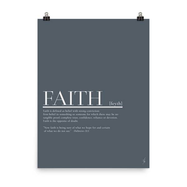 Faith poster (Kozira deep blue)-Kozira-18×24-Kozira
