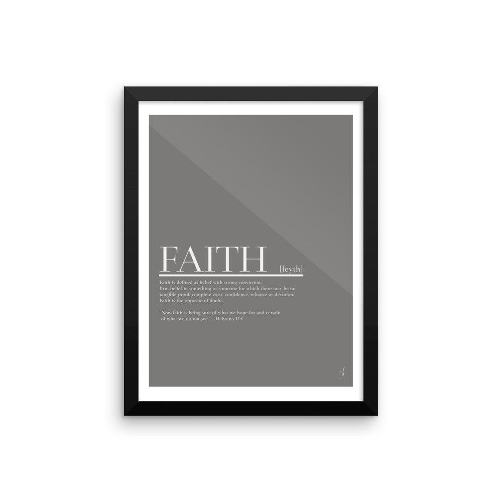 Framed Faith poster (Kozira grey)-Kozira-12×16-Kozira