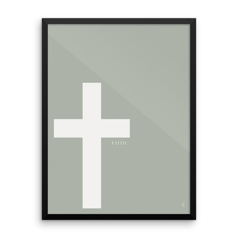Framed cross poster (Kozira green)-Kozira-18×24-Kozira