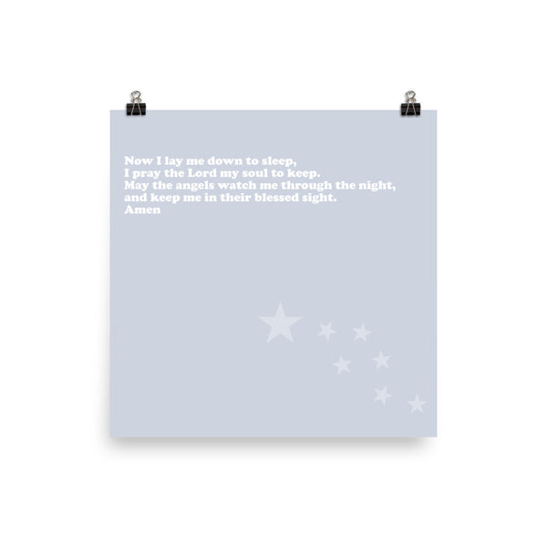 Nighttime prayer poster-Kozira-10×10-Kozira