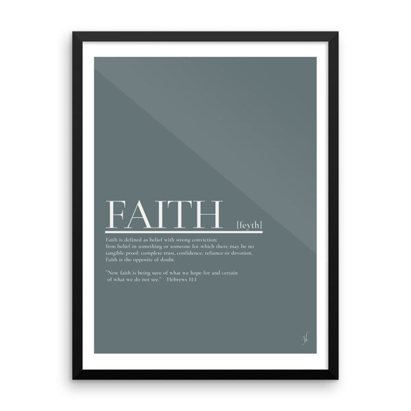 Framed Faith poster (Kozira blue)-Kozira-18×24-Kozira