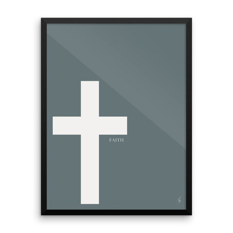 Framed cross poster (Kozira Blue)-Kozira-18×24-Kozira