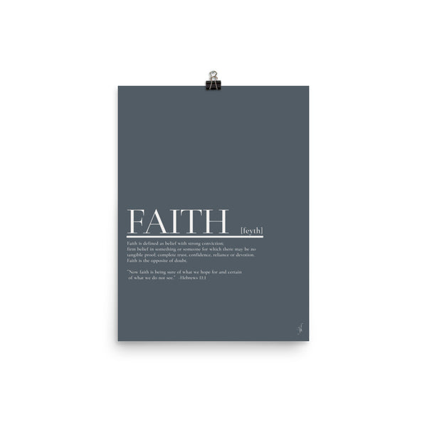 Faith poster (Kozira deep blue)-Kozira-12×16-Kozira