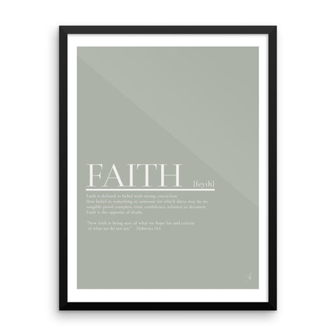 Framed Faith poster (Kozira green)-Kozira-18×24-Kozira