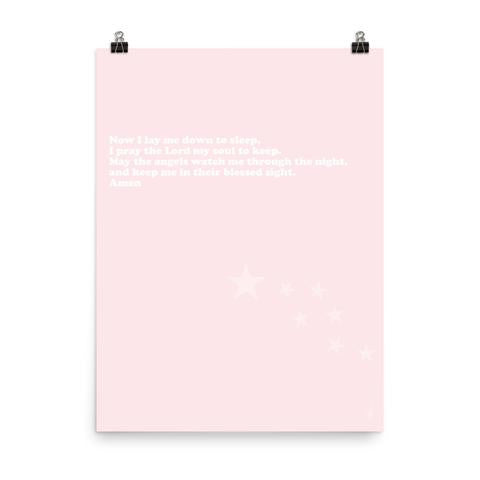 Nighttime prayer-Digital Download-3 different colors-Pink-Kozira