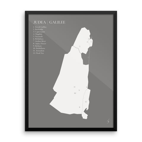 Framed map poster (Kozira grey)-Kozira-18×24-Kozira