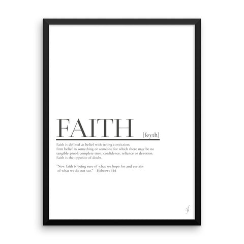 Framed Faith poster (Kozira black)-Kozira-18×24-Kozira