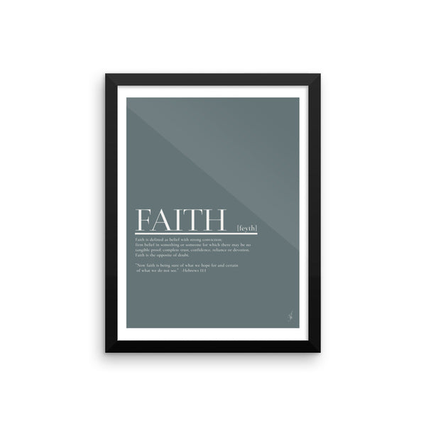 Framed Faith poster (Kozira blue)-Kozira-12×16-Kozira