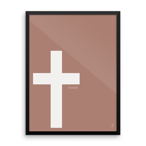 Framed cross poster (Kozira red)-Kozira-18×24-Kozira