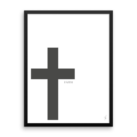 Framed cross poster (kozira black)-Kozira-18×24-Kozira