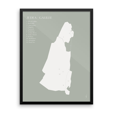 Framed map poster (Kozira green)-Kozira-18×24-Kozira