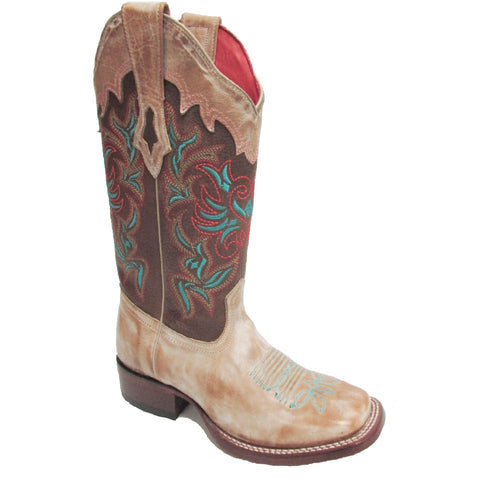 LOS ALTOS WOMEN'S WIDE SQUARE VINTAGE HONEY BOOT #3223651